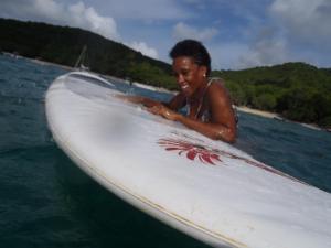 paddleboarding with jen
